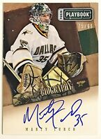 2013-14 Playbook Marty Turco On-Card Auto #'d 75/99 Biography Stars Canada