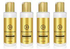 Keratin 4 Hair Silky Soft Safe Straight Smoothing Treatment 4 oz 4 piece Kit