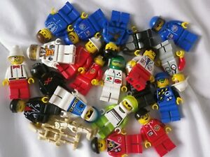 95BRICKS LEGO 100% lot vrac 22 minifigures city ninja space star wars droides