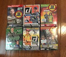 6 BOX LOT 2018 2019 NASCAR RACING BLASTER DONRUSS TORQUE IGNITE HAILIE DEEGAN