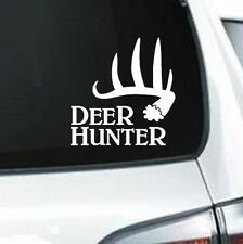 B243 DEER HUNTER ANTLER RACK HUNTING GUN RIFLE ARROW VINYL DECAL CAR TRUCK WALL