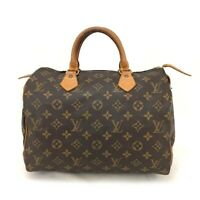 100% Authentic Louis Vuitton Monogram Speedy 30 Boston Travel Hand bag /20005