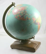 Vintage Mid Century Replogle 12 Inch Reference Globe Circa 1950s