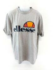ELLESSE Womens T Shirt Top 8 Grey Cotton & Polyester Loose Fit