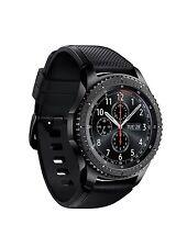 Samsung - Gear S3 Frontier Smartwatch 46mm - AT&T 4G LTE Dark Grey SM-R765A LN