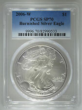 2006-W PCGS SP70 Burnished Silver Eagle 1 oz Coin