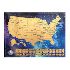 Scratch Off Map of the USA & Gift Tube - Relive Your Travel Adventures