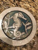 "Seahorse Hotplate Raku Pottery 6.5"" NEW"
