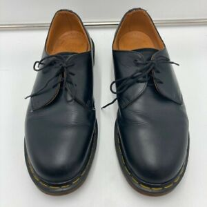 Dr. Martens Mens Oxfords Shoes Black Leather Lace Up Low Top Air Cushion 9