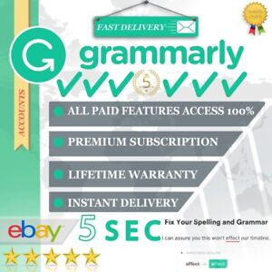 GRAMMARLY©PREMIUM | PREMIUM ACCOUNT | INSTANT DELIVERY | LESS THAN 1 MIN✔️