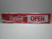 ORIGINAL Enjoy Coca~Cola SLIDE GLASS DOOR/WINDOW OPEN CLOSE PLASTIC SIGN