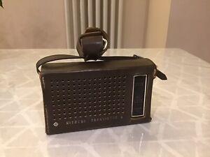 Vintage Hitachi Transistor Radio , With Original Case