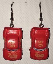 LIGHTNING MCQUEEN Red Racecar  Earrings Disney Surgical Steel New