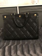 Authentic MULBERRY Marylebone black leather Quilted tote Crossbody Bag Handbag