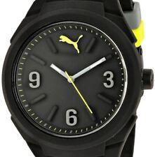 $80 PUMA Men's Black Analog Polyurethane Strap Watch PU103592001 WITH DEFECT