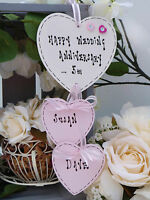 U01 Personalised Hanging Heart Wedding Engagement Anniversary Gift Plaque Sign