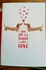 """""""You Fill My Heart With Love Each & Every Day"""" Greeting Card Dachshund Doxie Dog"""