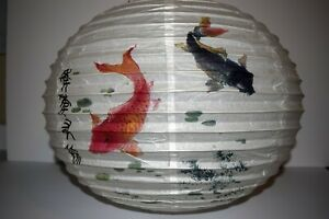 "15""x14"" Round Oriental Style Lamp Shade Paper Lantern Light Decoration"