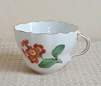 Vintage Meissen Porcelain  Tea/Coffee Cup With Hand Painted Flowers