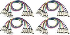 4 Sets 6 Farben Patchkabel Mikrofonkabel je 1 m XLR 3 pol DMX Mikrofon Kabel