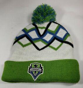 Seattle Sounders Knit Beanie pom pom green Unisex One Size subway promo winter