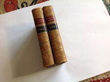 Whittier Poetical Works 1864: 2 Vols. Complete, Full Calf Binding, Gilt, Marbled