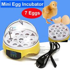 Mini Digital Eggs Incubator For Hatching 7 Eggs Chicken Duck Reptile AC