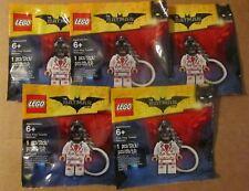 Five (5) Lego 5004928 KISS KISS TUXEDO BATMAN Key Chain ~ The Batman Movie ~ NIP