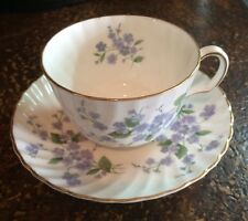 VINTAGE ROYAL ADDERLEY FORGET ME NOT H1228 CUP & SAUCER - MINT
