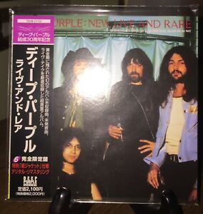 DEEP PURPLE- New Live And Rare, Japan MINI LP CD w/OBI TECW-21723, OOP Pristine