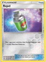 REPEL 130/149  Sun & Moon Base Set Reverse Holo Pokemon Card  EX