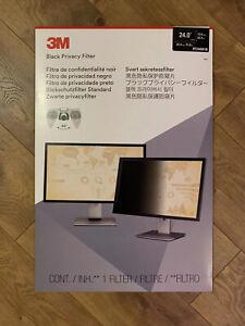 3M  Black Privacy Screen Filter 24.0 (PF240W1B)  1 Privacy Filter