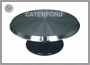 """12"""" CAKE DECORATING ICING PRO TURNTABLE HEAVY REVOLVING ROTATING STAND TURNPLATE"""