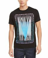 Guess Mens T-Shirt Black Size 2XL Mirror Graphic Front Crewneck Tee $34 #088