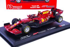 Charles Leclerc Ferrari SF1000 GP Toscana Mugello Modellino F1 2020 1/43 Burago