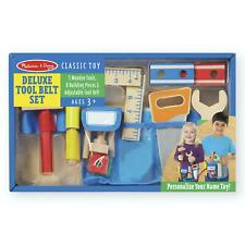 Melissa & Doug Deluxe Wooden Tool Belt Selt With Name Tag - Kids Ages 3 Years +