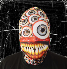 3D EFFECT HUGE EYEBALL DEMON FACE SKIN LYCRA FABRIC FACE MASK HALLOWEEN HORROR