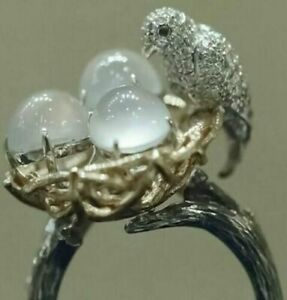 Turkish Handmade Ring 925 Silver Cocktail Women Jewelry Wedding Bridal Size 5-11