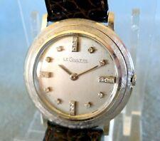 1960s 18K WHITE GOLD LECOULTRE 20-DIAMOND DIAL. RUNS GREAT