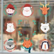 Wall Stickers Christmas Xmas Santa reindeer bear winte vinyl decal decor Nursery