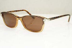 Authentic VERSACE Womens Vintage Sunglasses Silver Medusa Brown 3156 934 31343