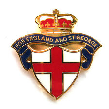 "ENGLAND BADGE ""FOR ENGLAND AND ST GEORGE"" - Blue Version, Lapel Badge, UK Seller"