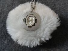 Pendant Watch - Missing Crystal Lausanne 17 Jewels Wind Up Necklace