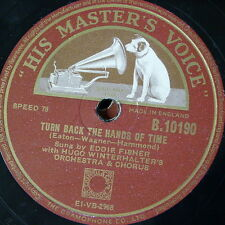 78rpm EDDIE FISHER turn back the hands of time / any time