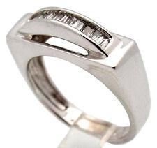 UNISEX DIAMOND RING 14K CHANNEL SET BAGUETTE .33CT H/SI