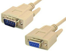 DB9 9 pin Serial RS232 Extension M/F Male to Female Cable 25 foot (25 ft length)