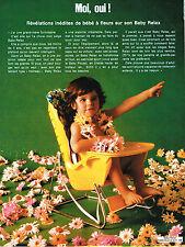 PUBLICITE  1972    BABY RELAX  à fleurs  siège bébé 1