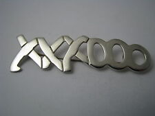"TAXCO MODERN STERLING SILVER BROOCH PIN ""HUGS & KISSES"" Mexico c1970s Rare!!"