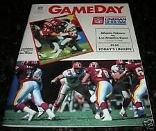 1988 LOS ANGELES RAMS vs ATLANTA FALCONS NFL PROGRAM 30 years old EX Condition