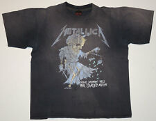 Vtg 1989 Metallica Money Tips Her Scales Again T Shirt XL Concert Faded Pushead